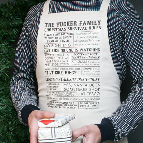 Personalised Christmas Rules Apron