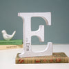 Personalised Initial White Letter