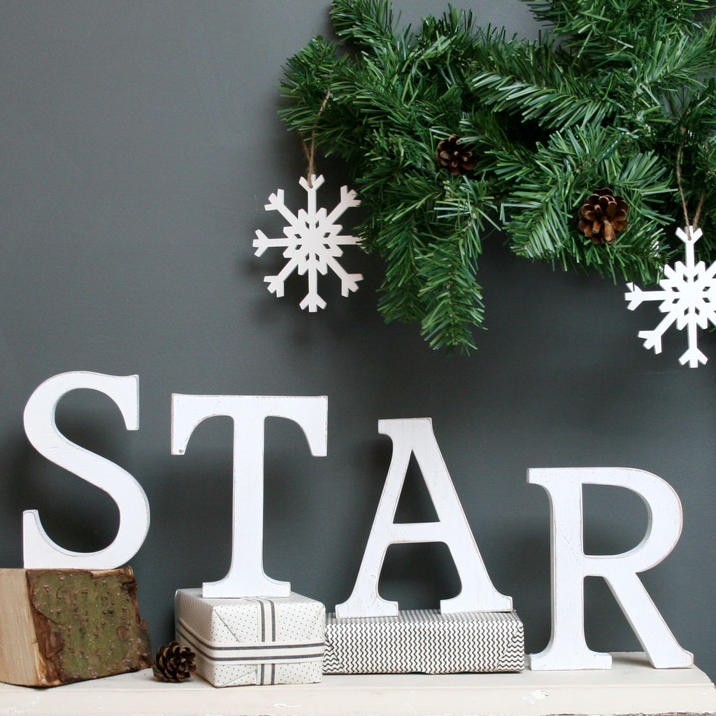 White Oak Star Letters