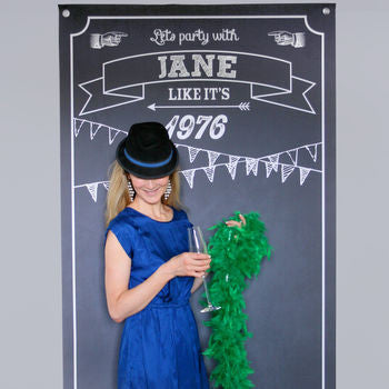 Personalised Photo Booth Party Backdrop