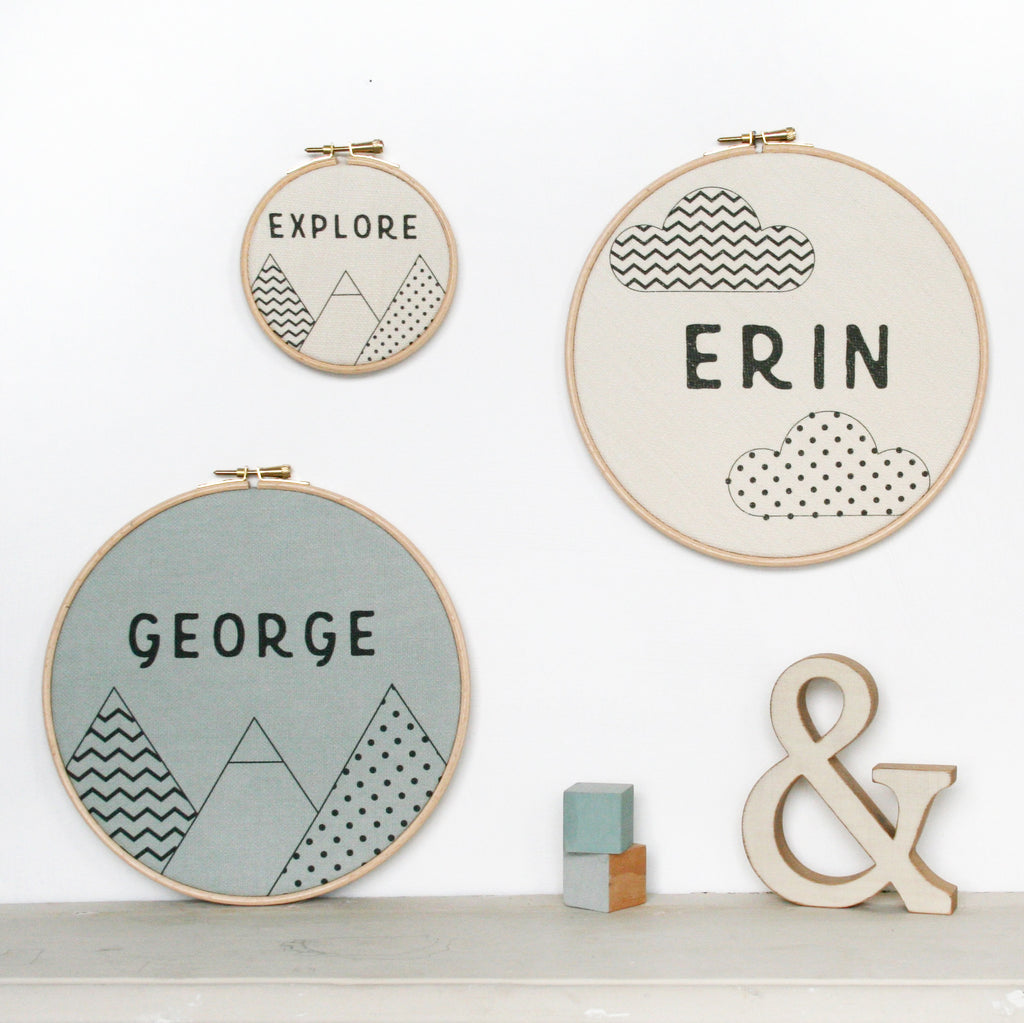 Personalised Geometric Name Hoop