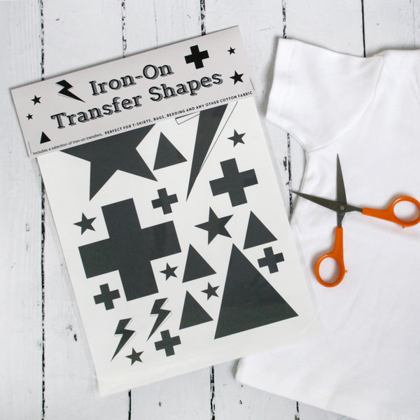 Iron On Swiss Cross And Stars Transfer