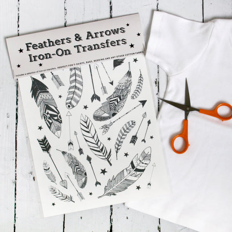 Iron On Transfer Feather And Arrows