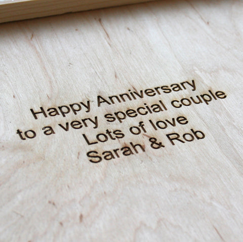 Personalised Wooden Anniversary Box