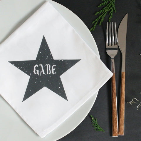 Personalised Star Napkin