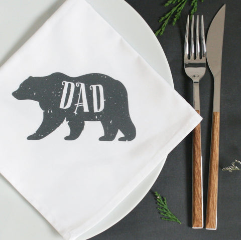 Personalised Polar Bear Christmas Napkin