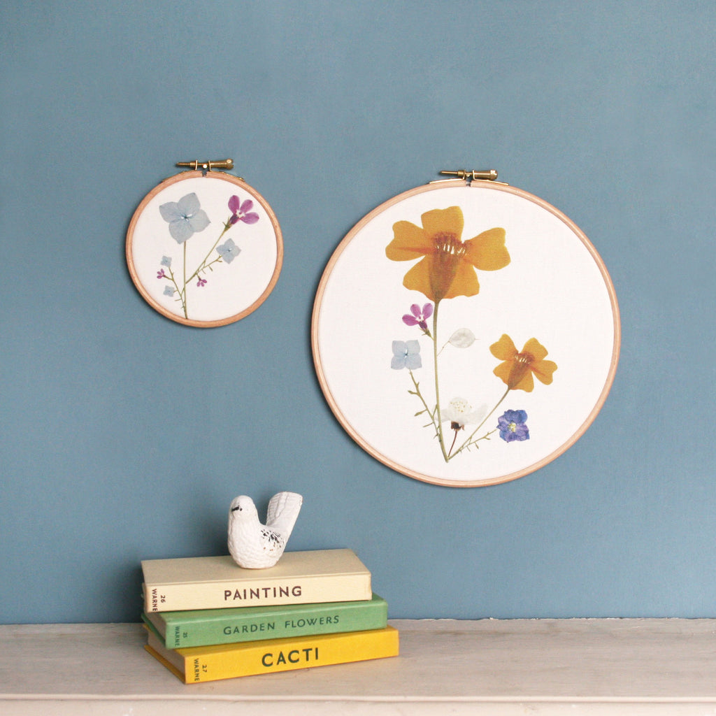 Pressed Flower Art Hoop