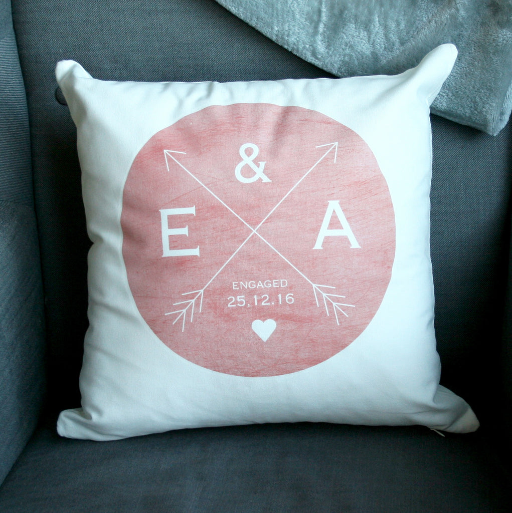 Personalised Wedding Crossed Arrow Cushion