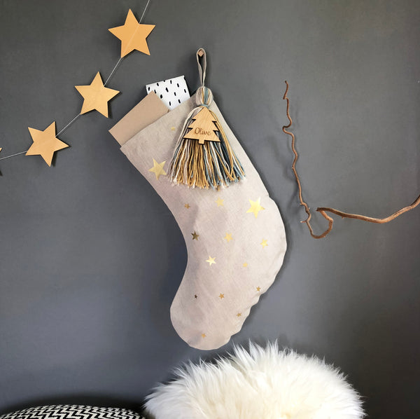 Personalised Giant Tassel Christmas Stocking