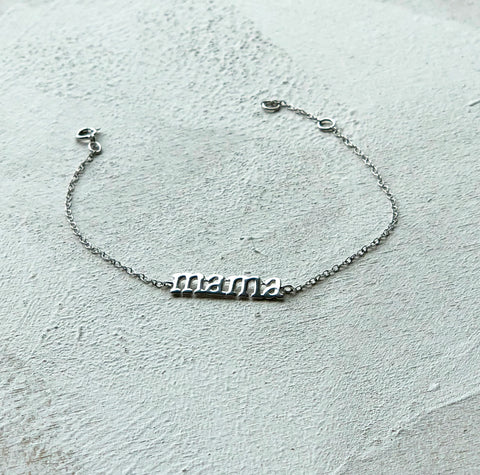 Personalised Sterling Silver Mama Bracelet