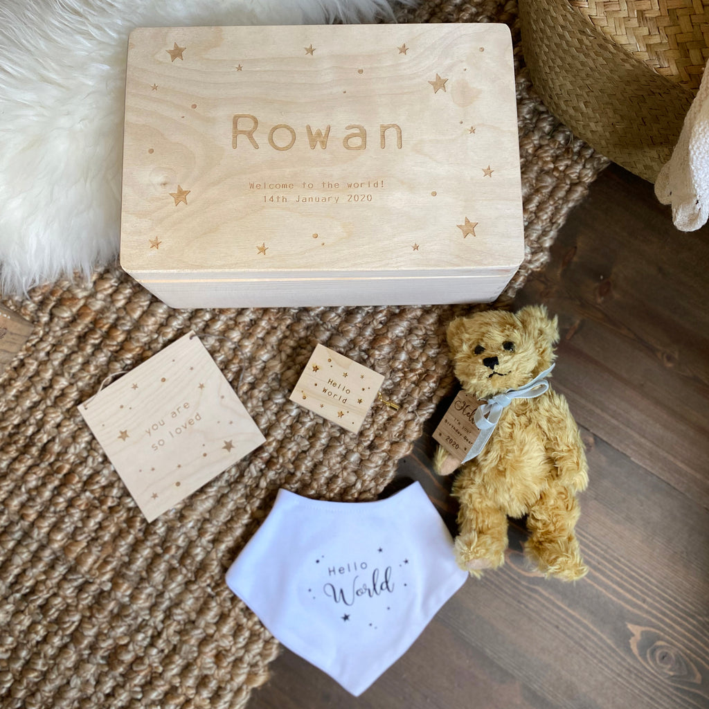 Personalised Starry Baby Gift Set