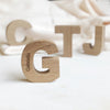 Personalised New Baby Mini Oak Letter