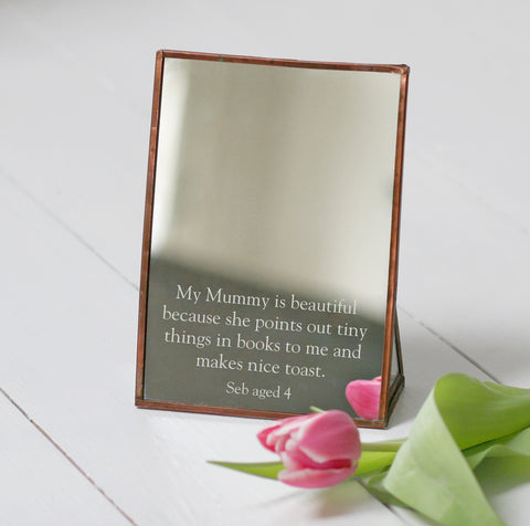 Personalised Copper Mothers Day Mirror