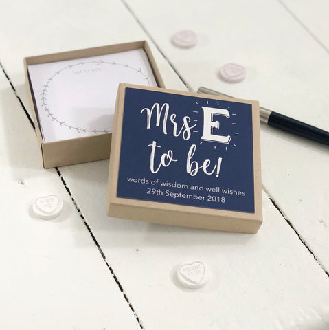 Personalised Soon To Be Hen Party Message Box