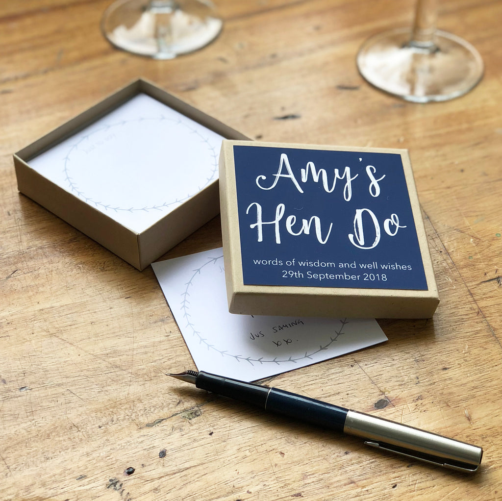 Personalised Hen Do Message Box