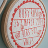 Personalised Baby Birth Hoop Frame