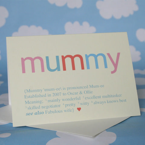 Personalised Special Person Card
