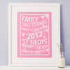 Personalised Bunting Birth Print