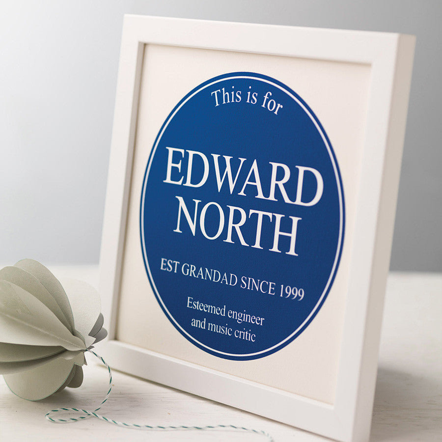 Personalised Framed Plaque Print