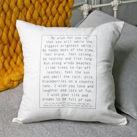 Personalised Baby Wish Cushion