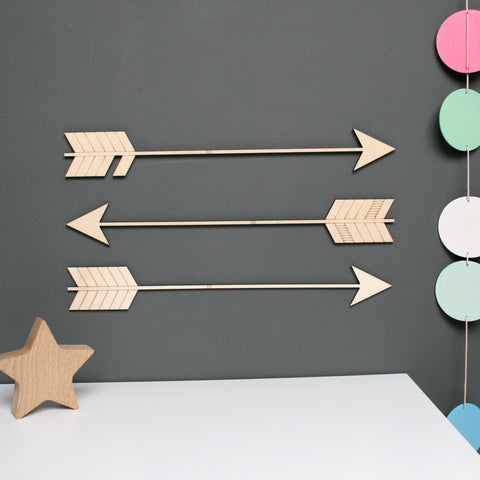 Wooden Arrow Wall Decoration