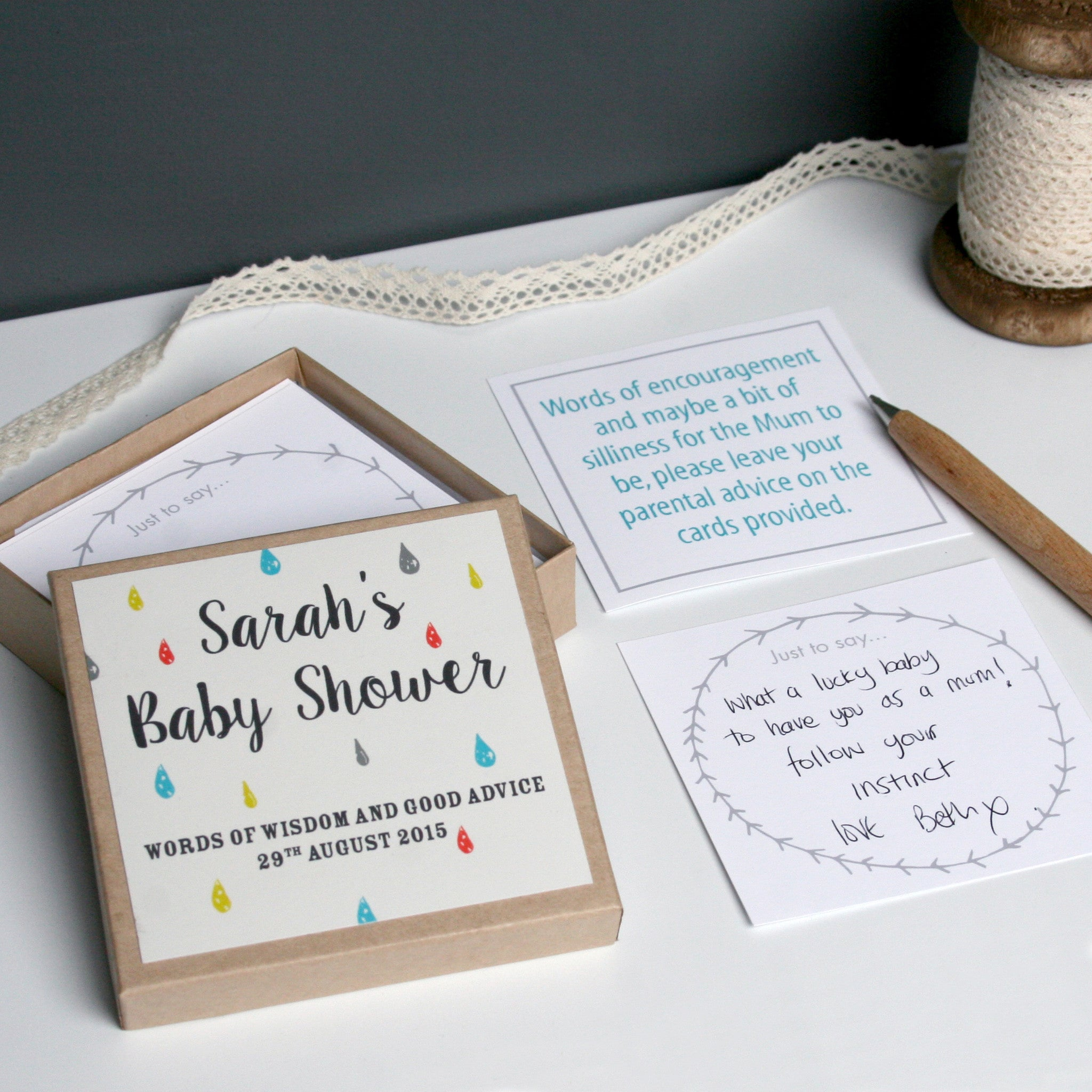 Personalised Baby Shower Message Box Modo Creative