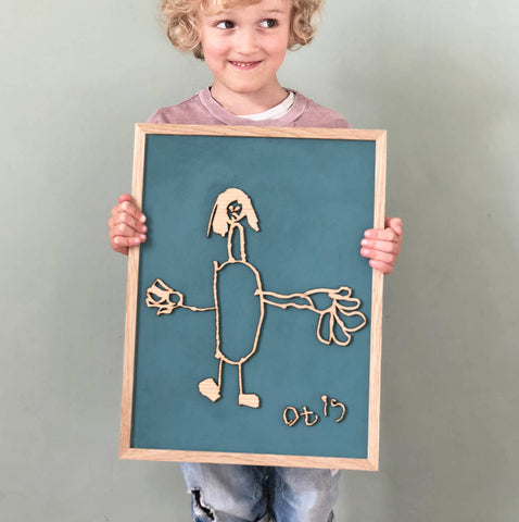 Bespoke Child's Drawing Wooden Wall Art