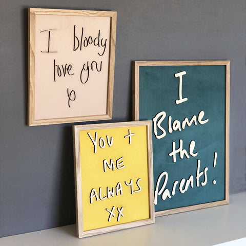 Bespoke Hand Writing Signs