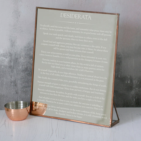 Copper Desiderata Mirror