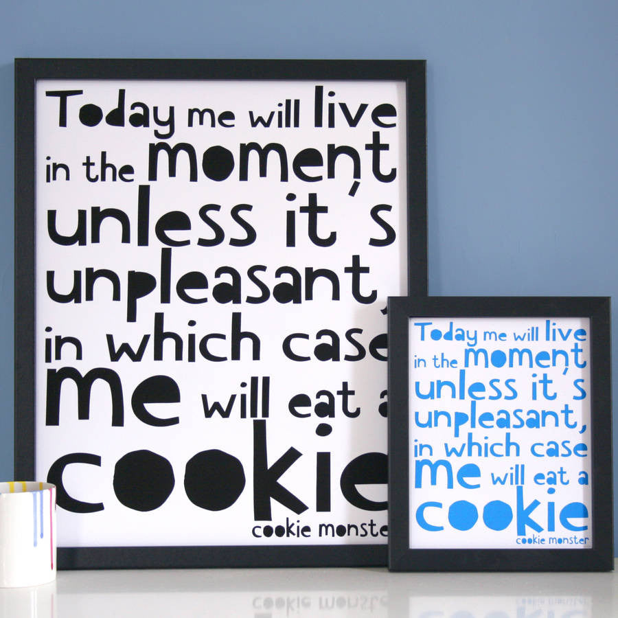 Cookie Monster Quote Print