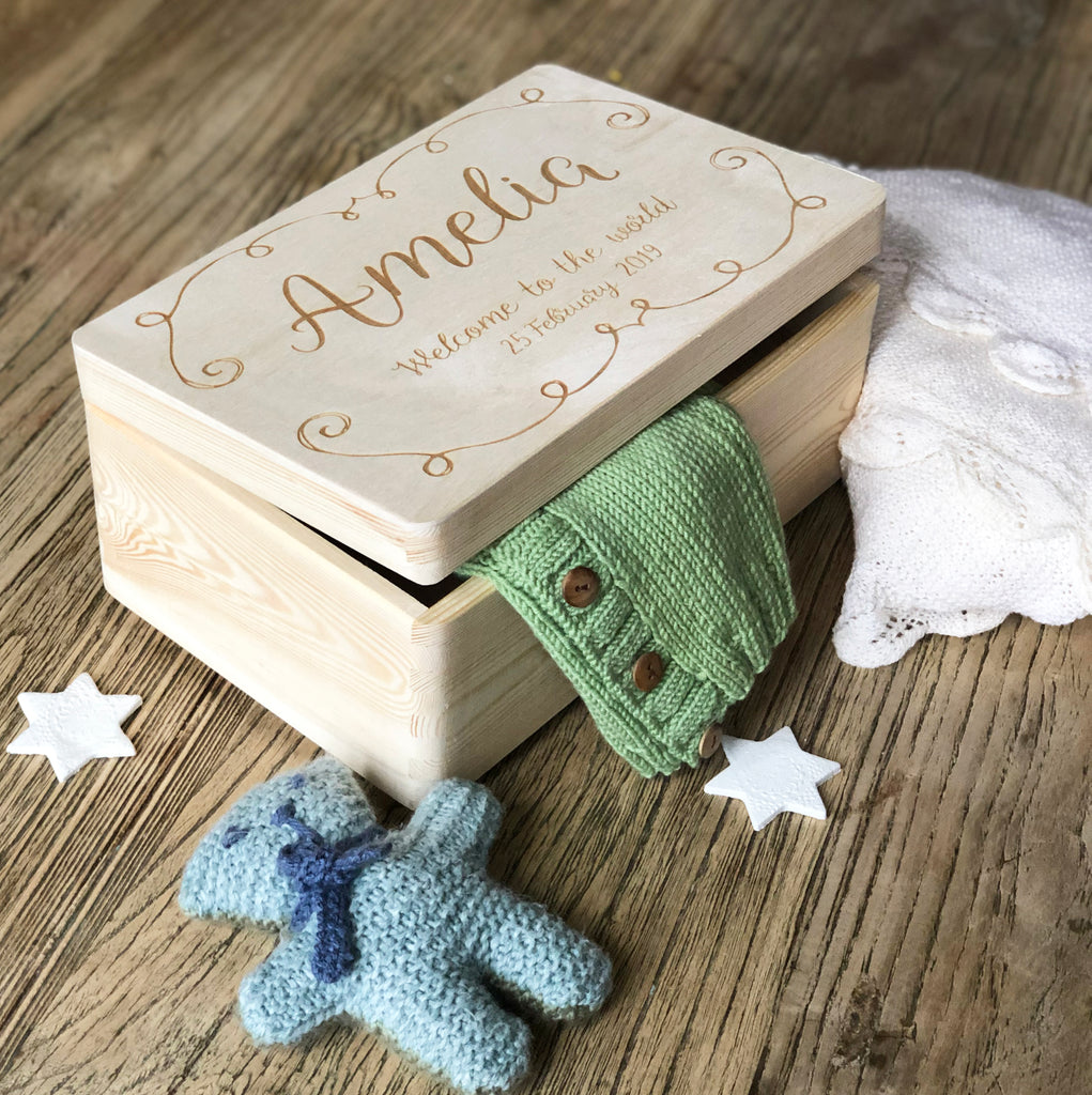Personalised Baby Birth Box