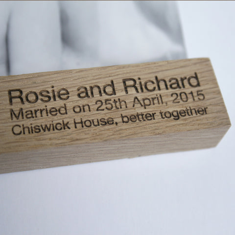 Personalised Oak Picture Hanger