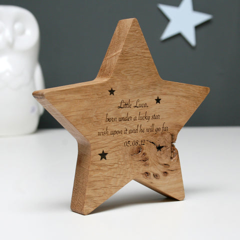 Personalised Large Lucky Star