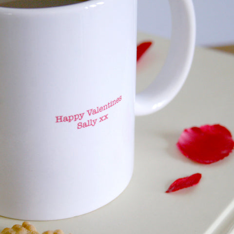 Personalised Valentine's Lonely Hearts Mug