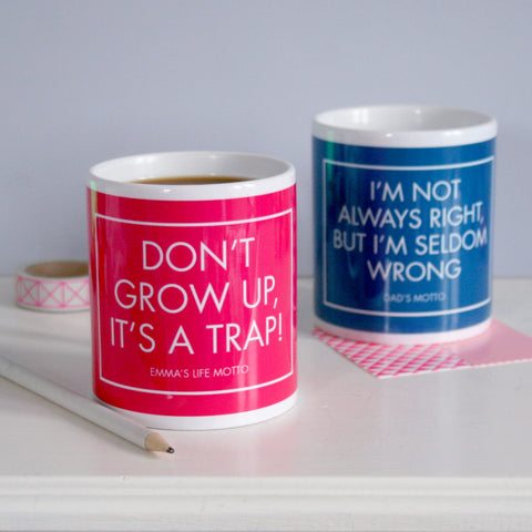 Personalised Motto Mug