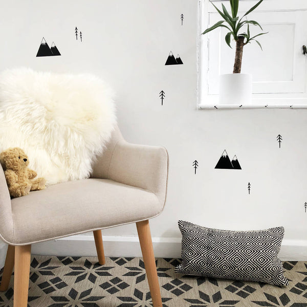 Mountain And Trees Wall Stickers