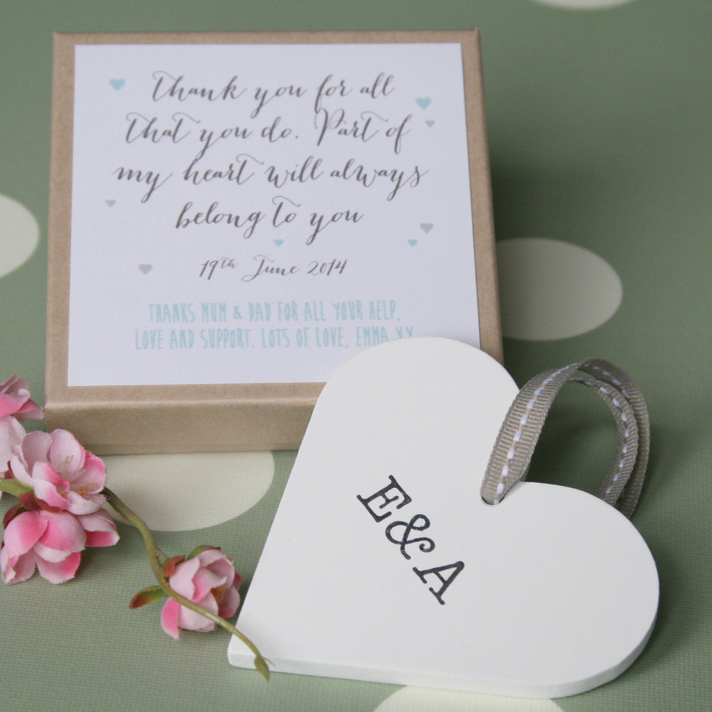 Personalised Parents Wedding Heart