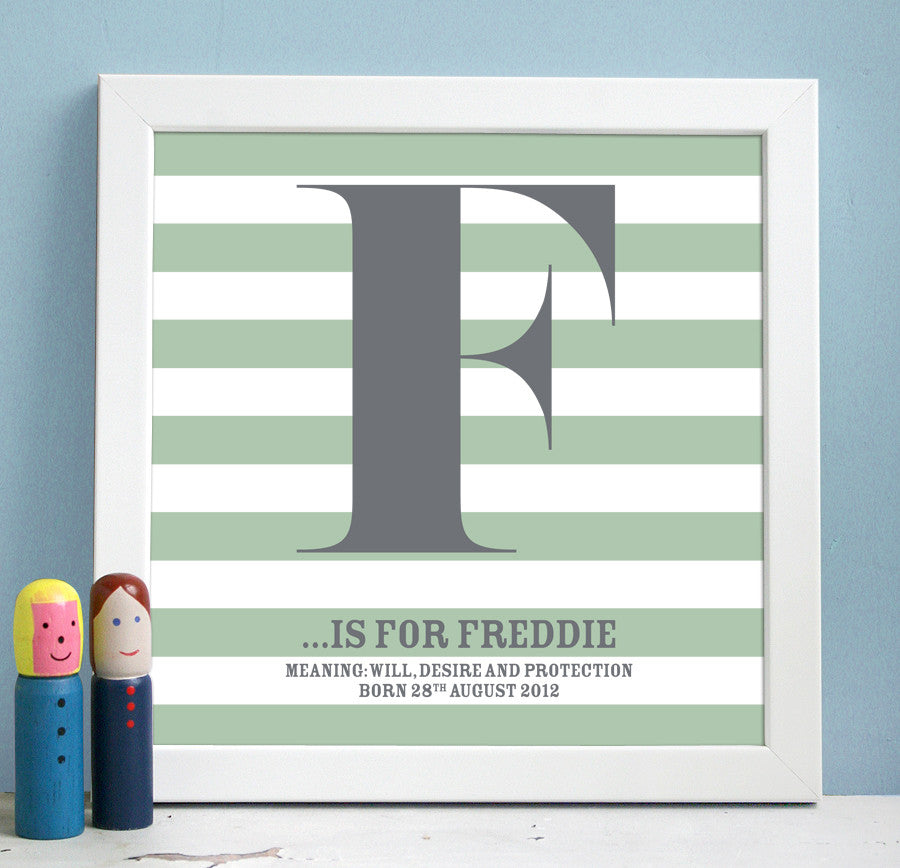Personalised Framed Name Definition Print