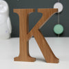 Personalised Christening Oak Letter