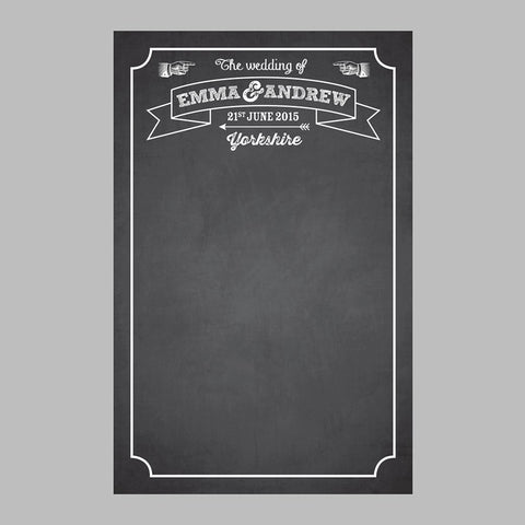 Personalised Wedding Chalkboard Backdrop