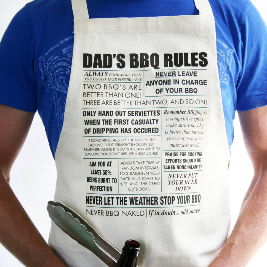 Personalised Bbq Rule Apron