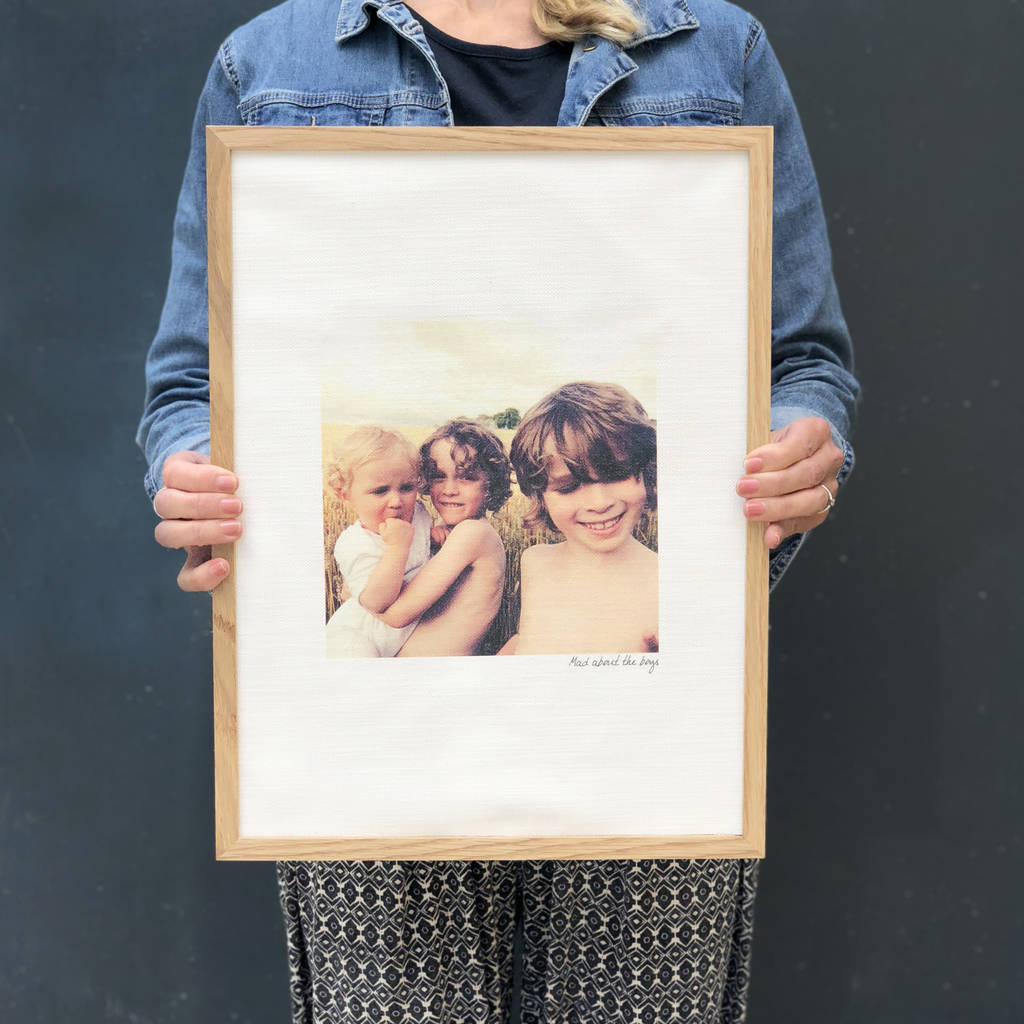 Personalised Favourite Photo Cotton Print