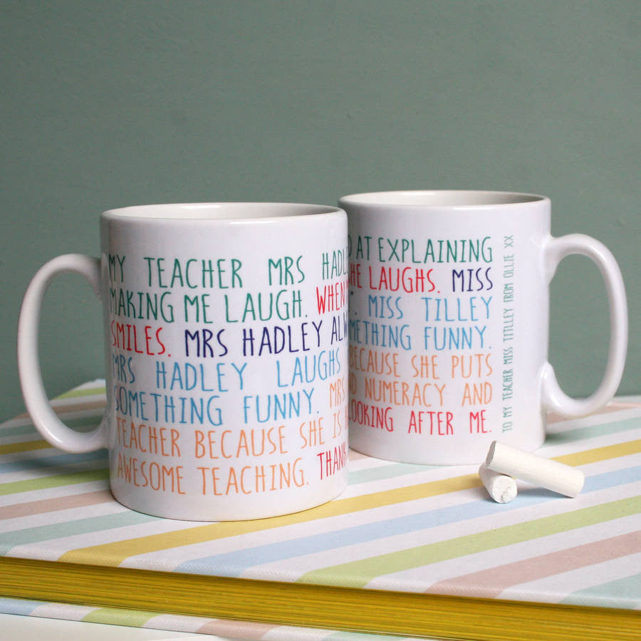 Personalised My Teacher Mug
