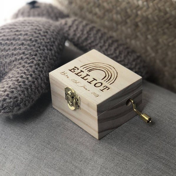 Personalised Rainbox Wooden Music Box