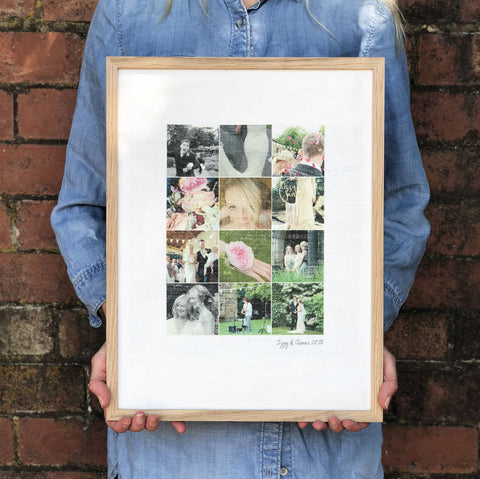Personalised Wedding Photo Cotton Print