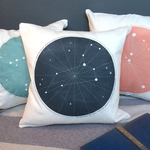 Personalised Wedding Zodiac Cushion