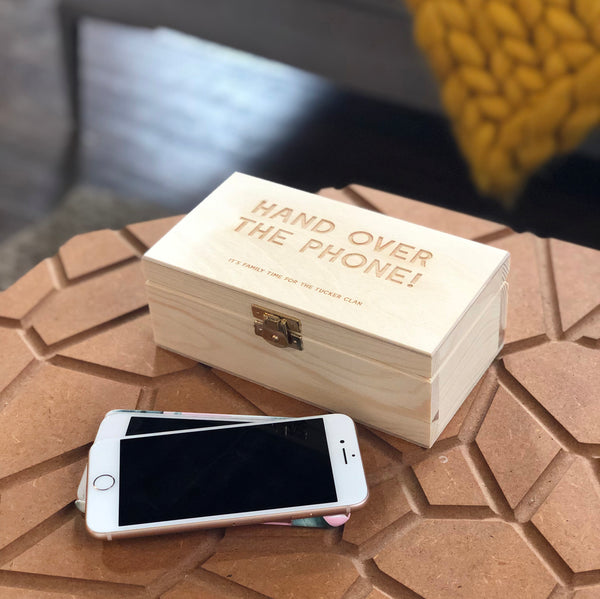 Personalised Phone Banish Box