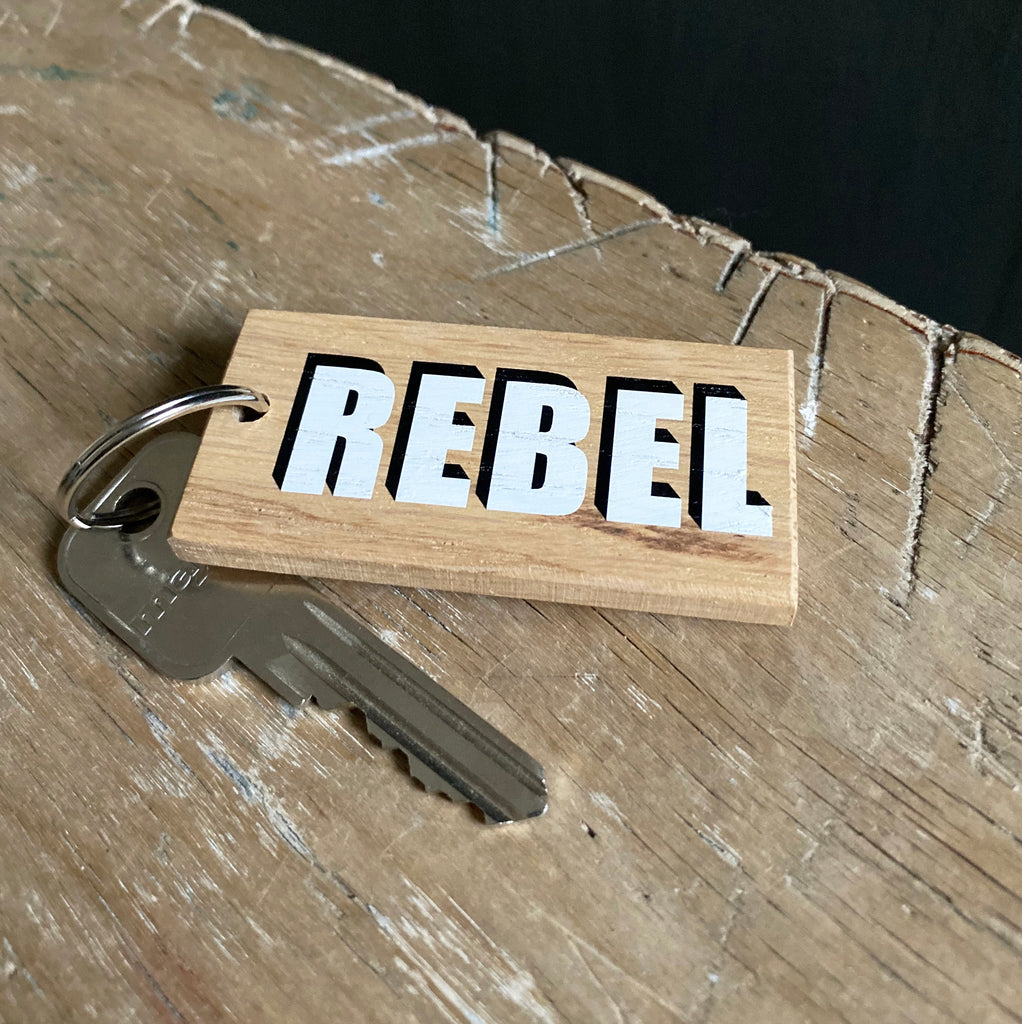 Oak 'One Word' Keyring