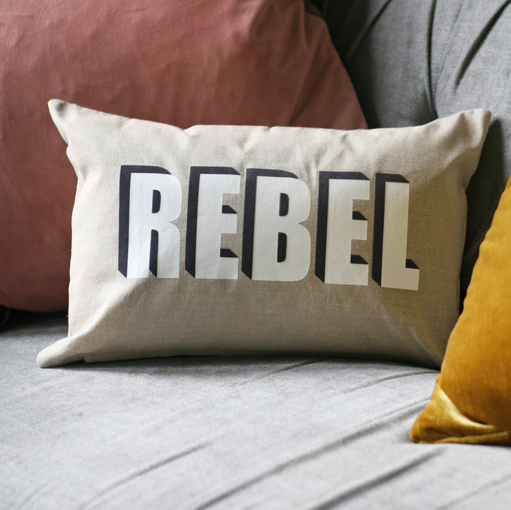 Linen REBEL Cushion