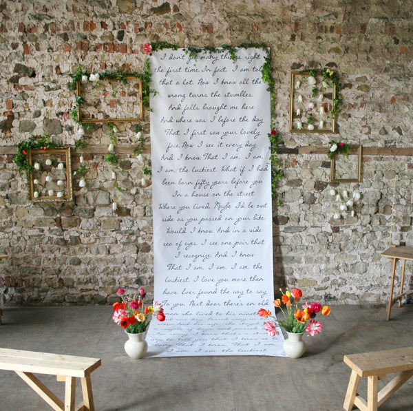 Personalised 'Your Special Words' Backdrop